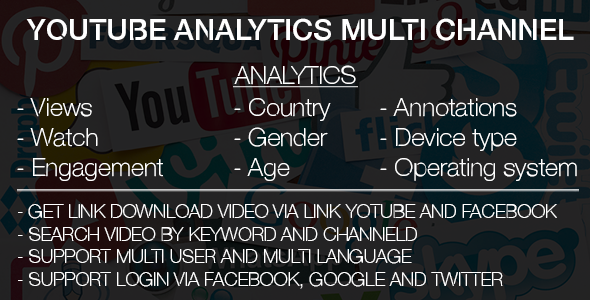 Youtube Analytics Multi Channel & Search